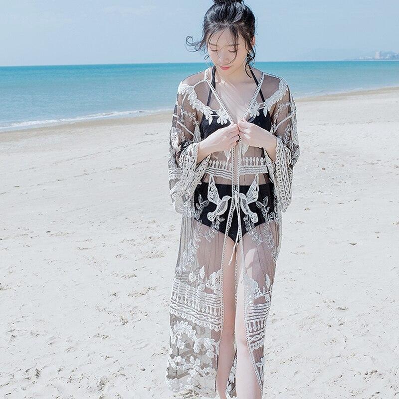 Womens Swimwear Cover Up Beach Dress Tunic Pareo Kaftan Beach Outlet Bathing Suit Bikini Cover Ups Women Beachwear long dress
