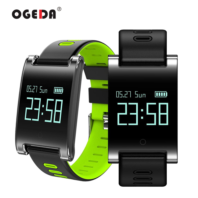 OGEDA Smart Men Watch DM68 PLUS Blood Pressure Heart Rate Monitor Bluetooth Fitness Bracelet Call Reminder Activity Tracker ogeda women smart watch blood pressure blood oxygen heart rate monitor smart fitness bracelet activity tracker support running