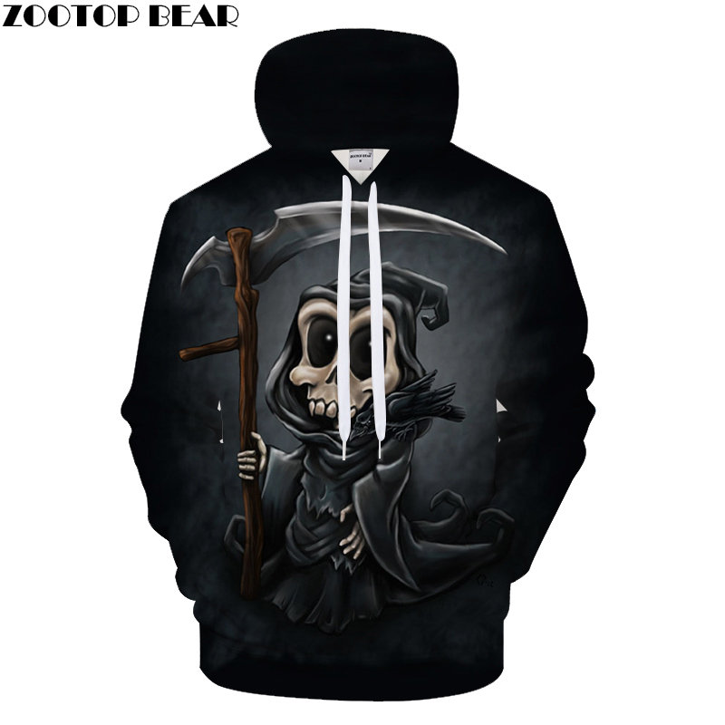 terror Skull 3D Printed Hoodies Men Women Sweatshirts Hooded Pullover Brand 6xl Qaulity Tracksuits Boy Coats Fashion Outwear New
