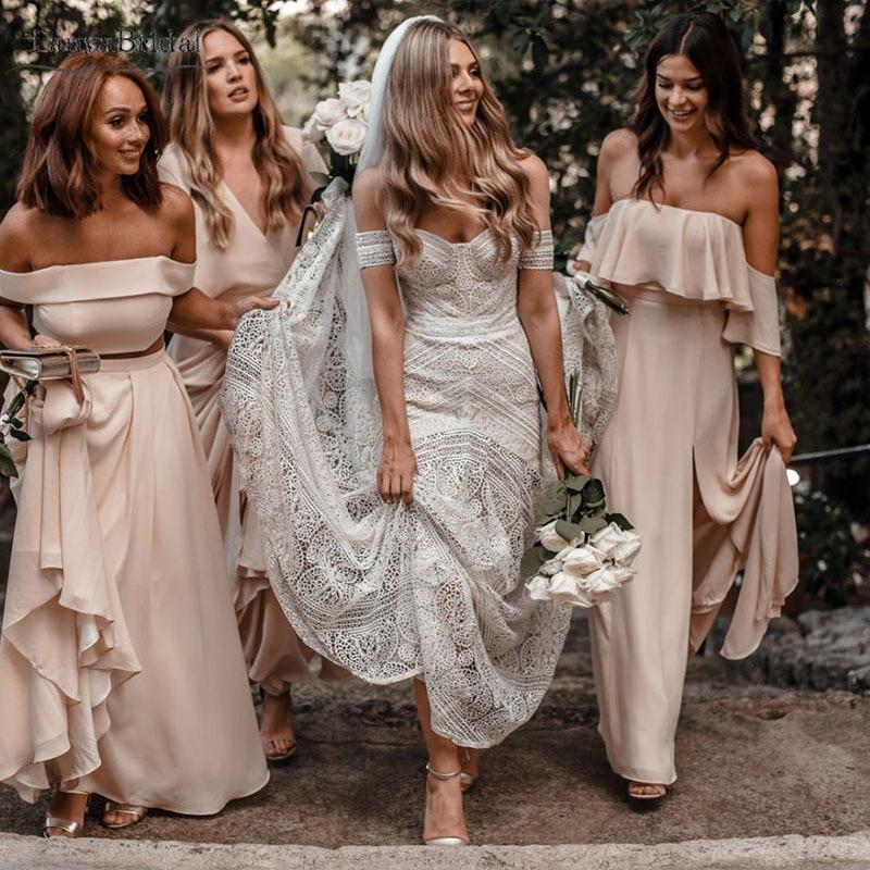 Full Skirt Wedding Gowns: Dramatic Lace Wedding Dresses Mermaid Mesh Layered Full