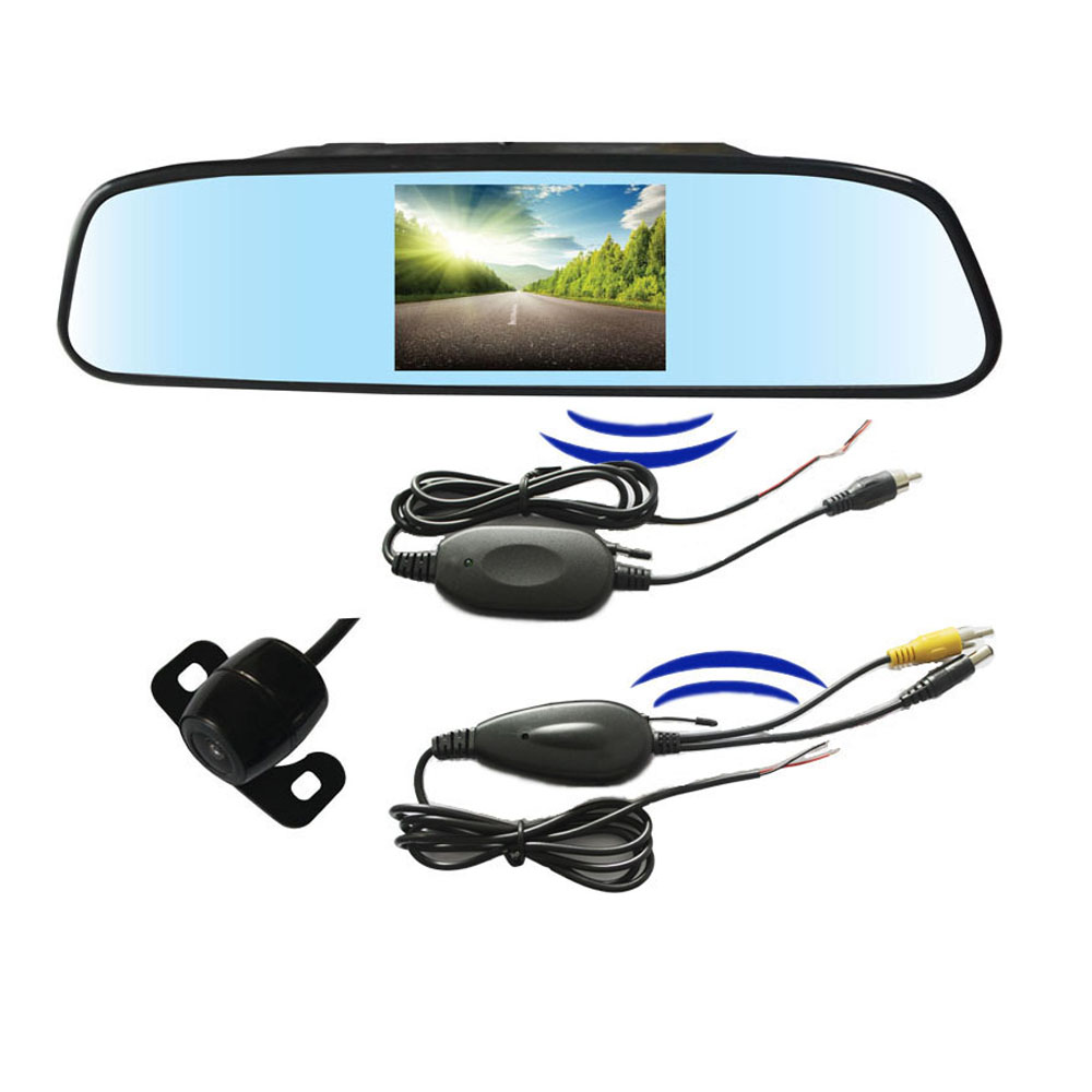 Здесь можно купить   Wireless rear view camera backup monitor 4.3 inch mirror display screen Автомобили и Мотоциклы
