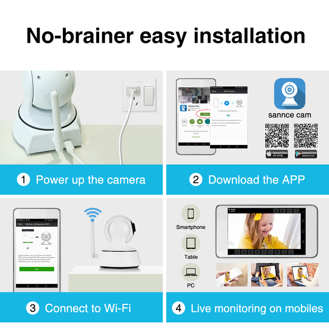 Wireless Home Security IP Camera with Night Vision 5