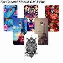 New Fashion Flower Animals and Tower Design Hard PC painted Phone Cover For General Mobile GM 5 Plus 5.5' Luxury Cell Phone Case