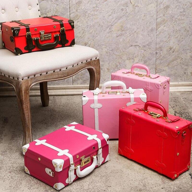 Bagaj ve Çantalar'ten Üstten Saplı Çanta'de SEYAHAT MASALı kadınlar retro el çantası 12/14/15 inç sevimli vintage kızlar tote çanta seyahat için'da  Grup 1