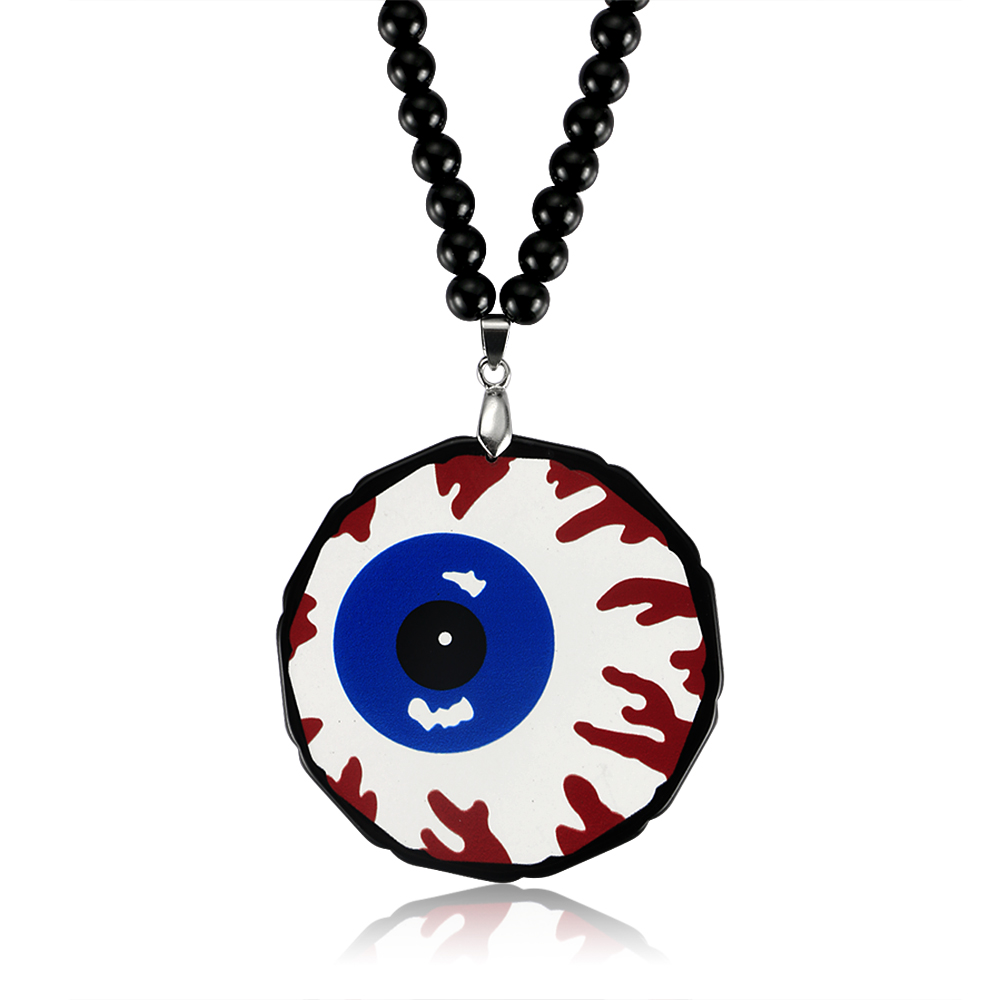 eye glass necklace products blue taxidermy pendant hazel round pupil welldonegoods eyeball