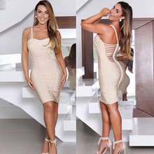 Apricot Bandage Party Bodycon Dress