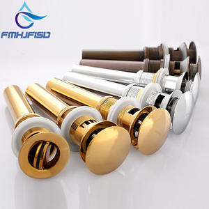 Golden Polish Pop Up Drain With Overflow Waste Vanity Bathroom Drain without Overflow Chrome Nickel ORB Colors Free Shipping