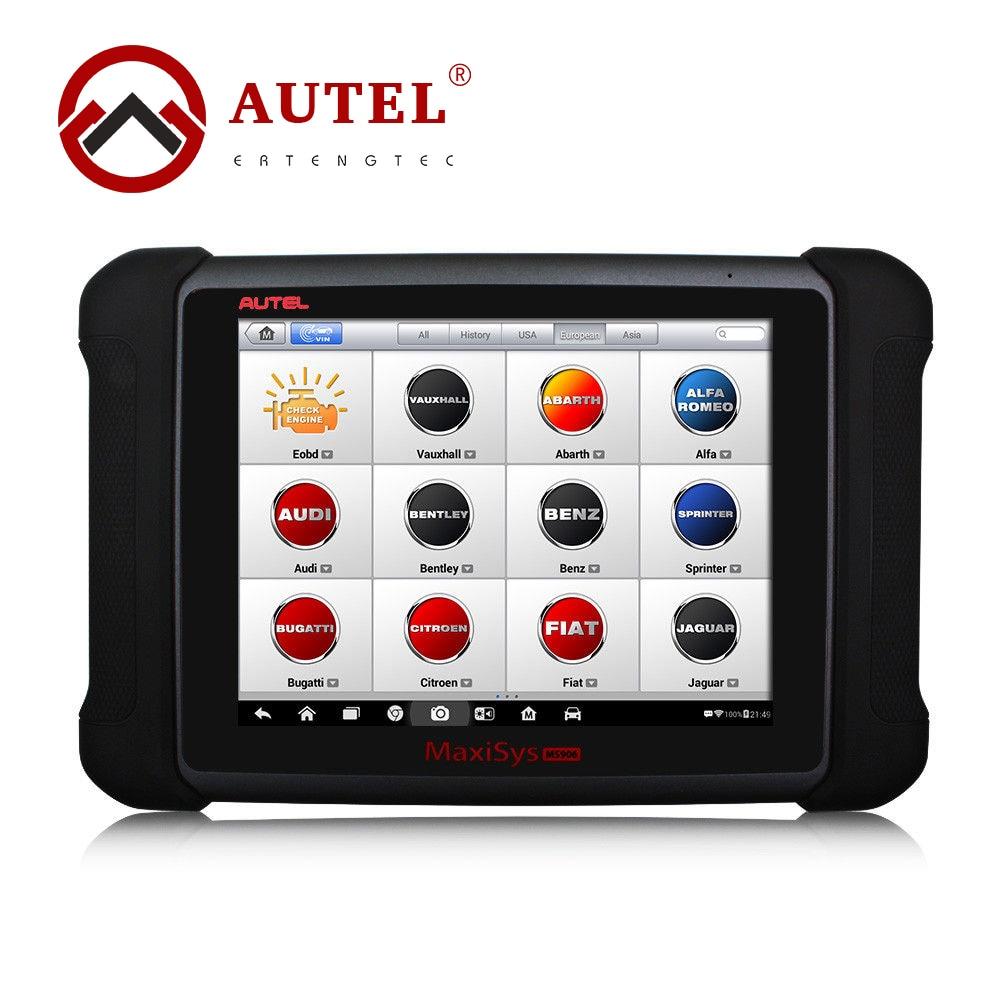"""Autel maxisys ms906 automotriz herramienta de diagnóstico paquete completo de gran alcance que autel maxidas ds708 actualización en línea de 9.7 """"de pantalla táctil"""