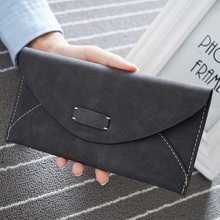 Hot fashion big capacity women wallets girls casual long clu