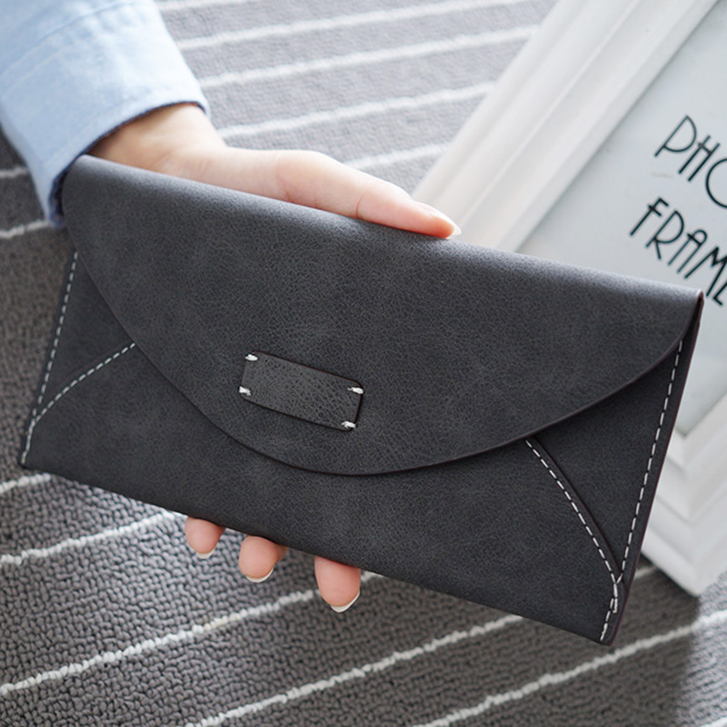 Hot Fashion Big Capacity Women Wallets Girls Casual Long Clutch Cell Phone Hasp Wallet Student Retro Credit Card Holder Purse