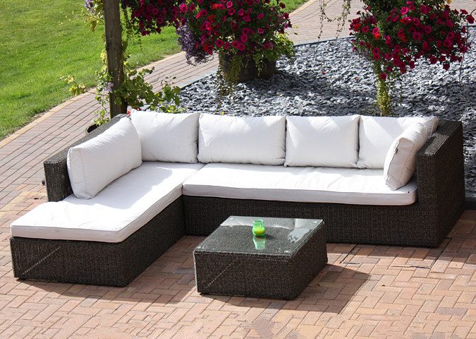 2016 Outdoor Wicker Furniture Modular Lounge Seating Balcony Corner Sofa  Set In Garden Sofas From Furniture On Aliexpress.com | Alibaba Group
