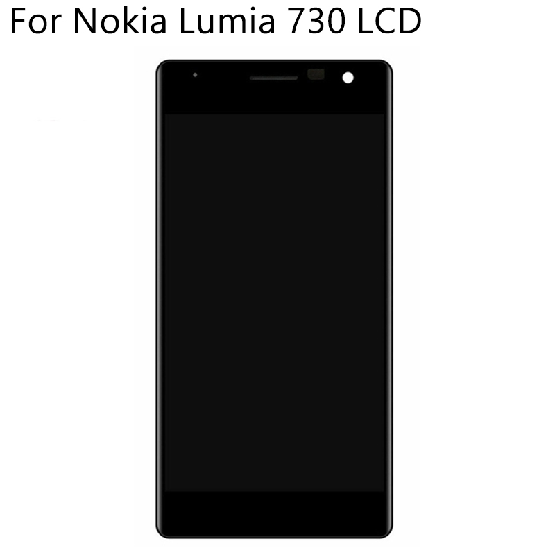Image 3 - Original OLED For Nokia Lumia 730 RM 1038 LCD Display Touch Screen With Frame Digitizer Replacement Assembly 100% Tested-in Mobile Phone LCD Screens from Cellphones & Telecommunications