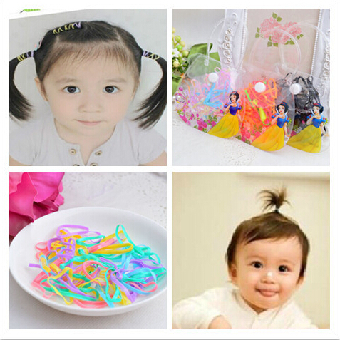 Fashion small elastic hair bands gums for baby colors rubber bands   headwear   ornament hair ties girls disc hair style hair loops