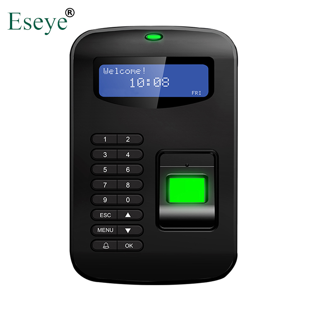 Eesye Biometric Fingerprint Time Attendance System Clock Recorder Employee Recognition Device Electronic Digital Reader Machine danmini biometric fingerprint time attendance clock recorder employee digital electronic reader scanner system for door lock