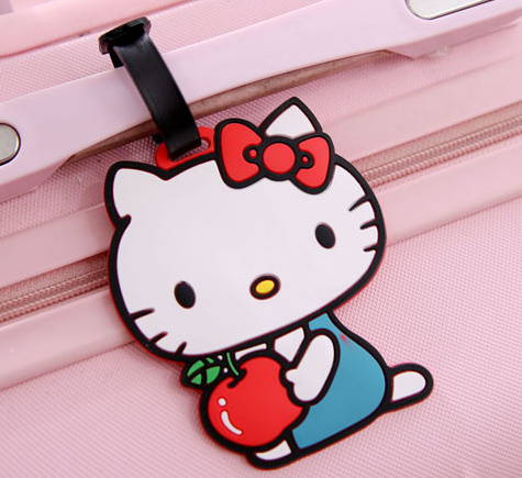 Kawaii New Lady S 11 5cm Silicone Rubber Travel Pad Luggage Tag Cards Label Name Tags In Card Id Holders From Bags On Aliexpress