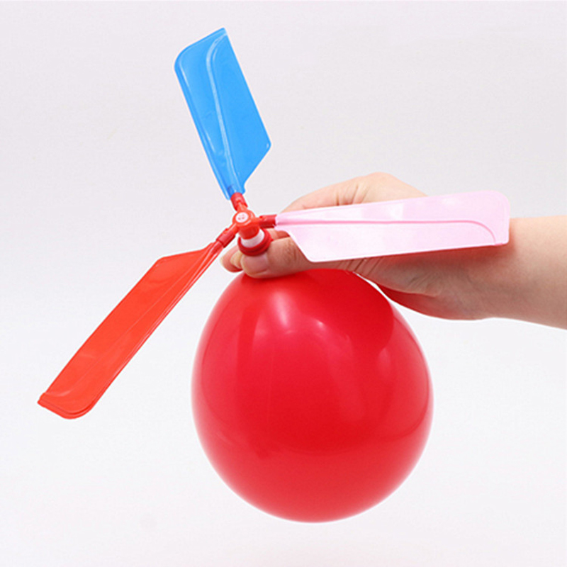 1pc Funny Balloon Helicopter Flying Educational Kids Inflatable Toys Outdoor Playing Balloon Helicopter Flying Toy