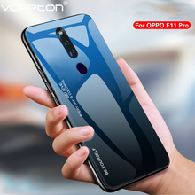 ForFor OPPO F11 Pro Phone Case Gradient Tempered Glass Hard Case Soft
