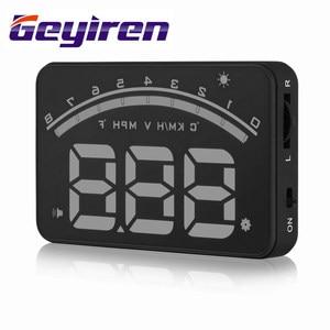 Image 5 - جهاز عرض GEYIREN M6 برأس يصل إلى 3.5 بوصة مزود بشاشة عرض من الزجاج الأمامي OBD2 EUOBD شاشة عرض بيانات قيادة السيارة سرعة دورة في الدقيقة درجة حرارة الماء عرض HUD للسيارة