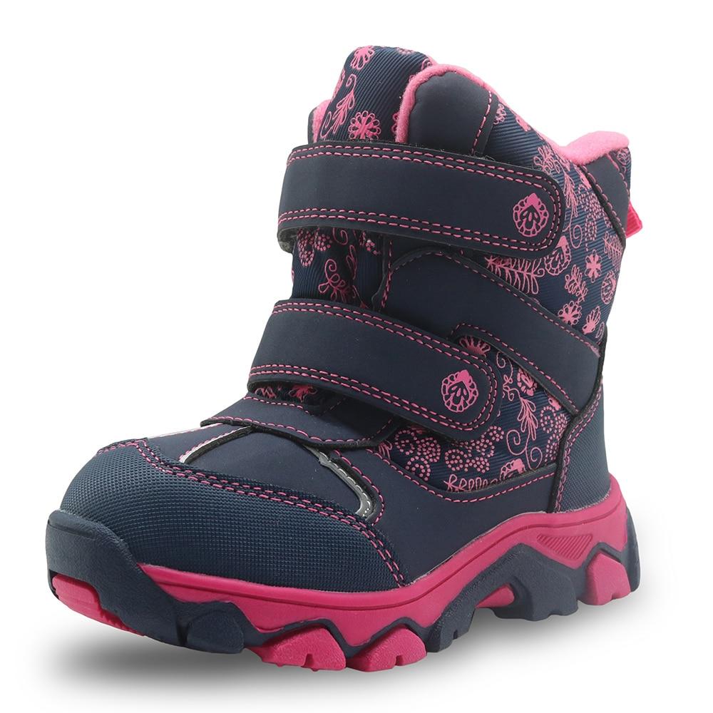 Apakowa Girls Winter Boots Waterproof Mid Calf Snow Boots ...