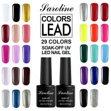 Saroline Colors UV Gel Nail Polish for Nail Design Soak Off Hybrid Enamel 7ml Color Nail Gel Polish Fashion Gel Varnishes Azure