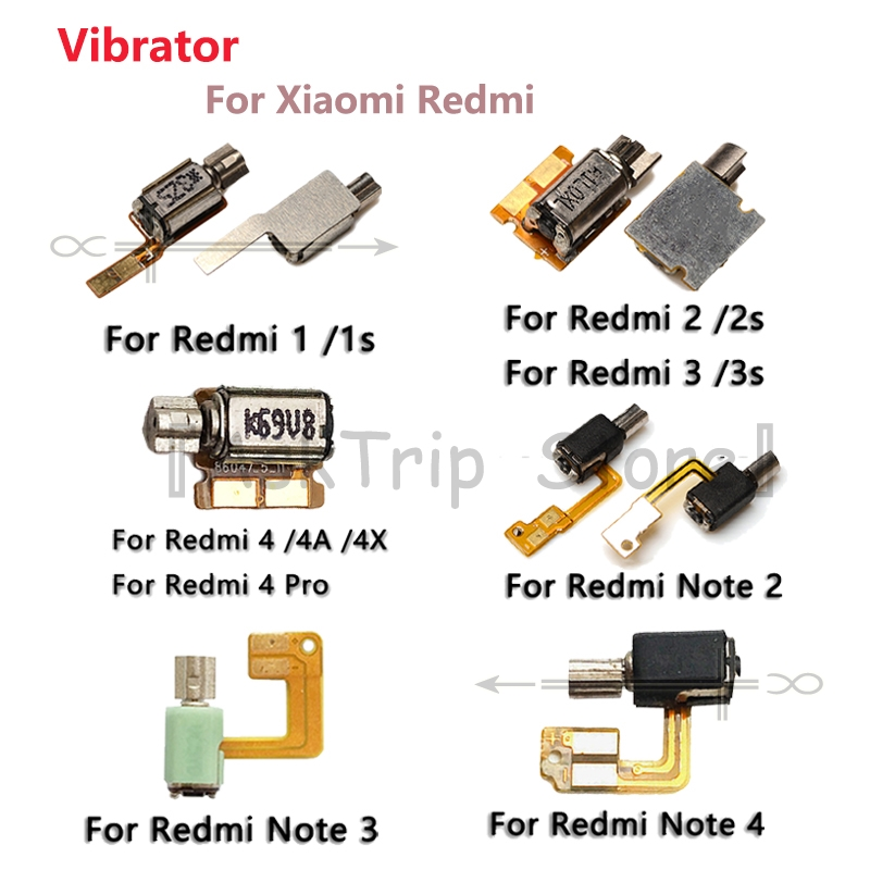 100% New For Xiaomi Redmi 1 1s 2 2s 3 3s 4 4A 4X Pro Note 2 3 4 Motor Replacement Parts Vibrator Vibration Motor Flex Cable