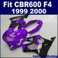 Factory Injection motorcycle fairing kits for HONDA CBR600 F4 1999 2000 CBR600F4 99 00 CBR600F purple black fairngs body kit