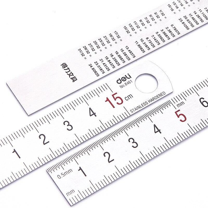 Ausarbeitung Liefert Herrscher Sosw-5 Pcs Dual Seite Markiert 15 Cm 6 Zoll Edelstahl Gerade Lineal