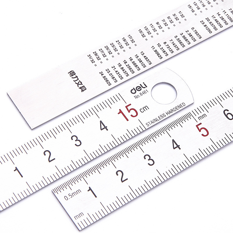 With the scale ruler mapping measurement of office stationery 15cm/20cm/30cm/50cm stainless steel ruler steel cutting ruler
