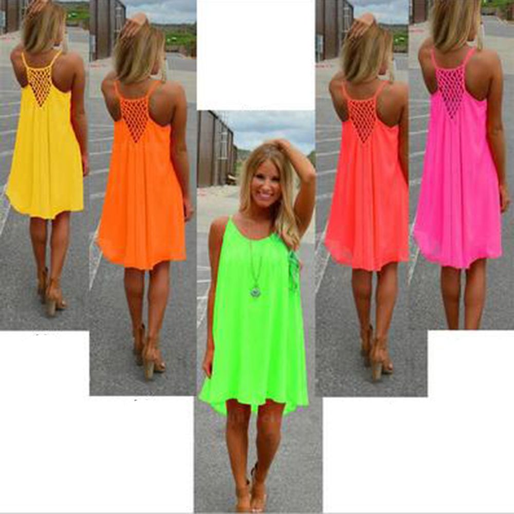 ... Sexy Women s Summer Casual Sleeveless Evening Party Backless Beachwear  Mini Dress Multiple colors female fashion loose ... 215461eff58f