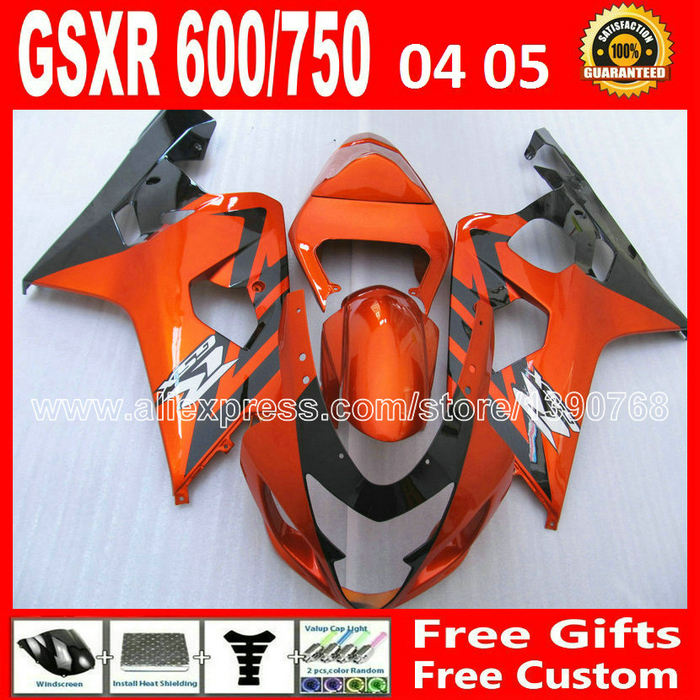 Brand new for 2004 2005 SUZUKI GSXR 600 750 glossy orange black plastics fairing kit K4  gsxr600 04 05 CFV gsxr750 fairings kits universal uheels trolley travel suitcase double shoulder backpack bag with rolling multilayer school bag commercial luggage