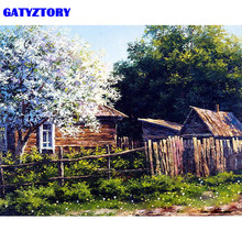 GATYZTORY Frame Home Garden DIY Painting By Number Modern Wall Art Canvas Painting Acrylic Paint By Numbers For Home Decors Arts(China)