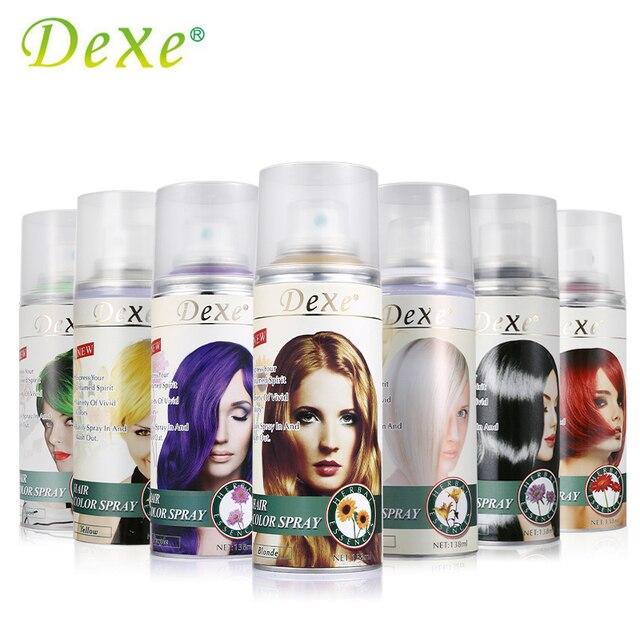 Dexe Hair Color Spray Temporary Hair Dye Herbal Ingredient Plant ...