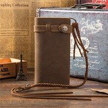 Geldklemmen Nieuw SaleStock Retro Crazy Leather Wallet Pocket Heren Wholesale Card Package