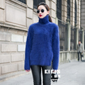 New genuine mink cashmere sweater women pure cashmere pullovers mink jacket with collar free shipping S292