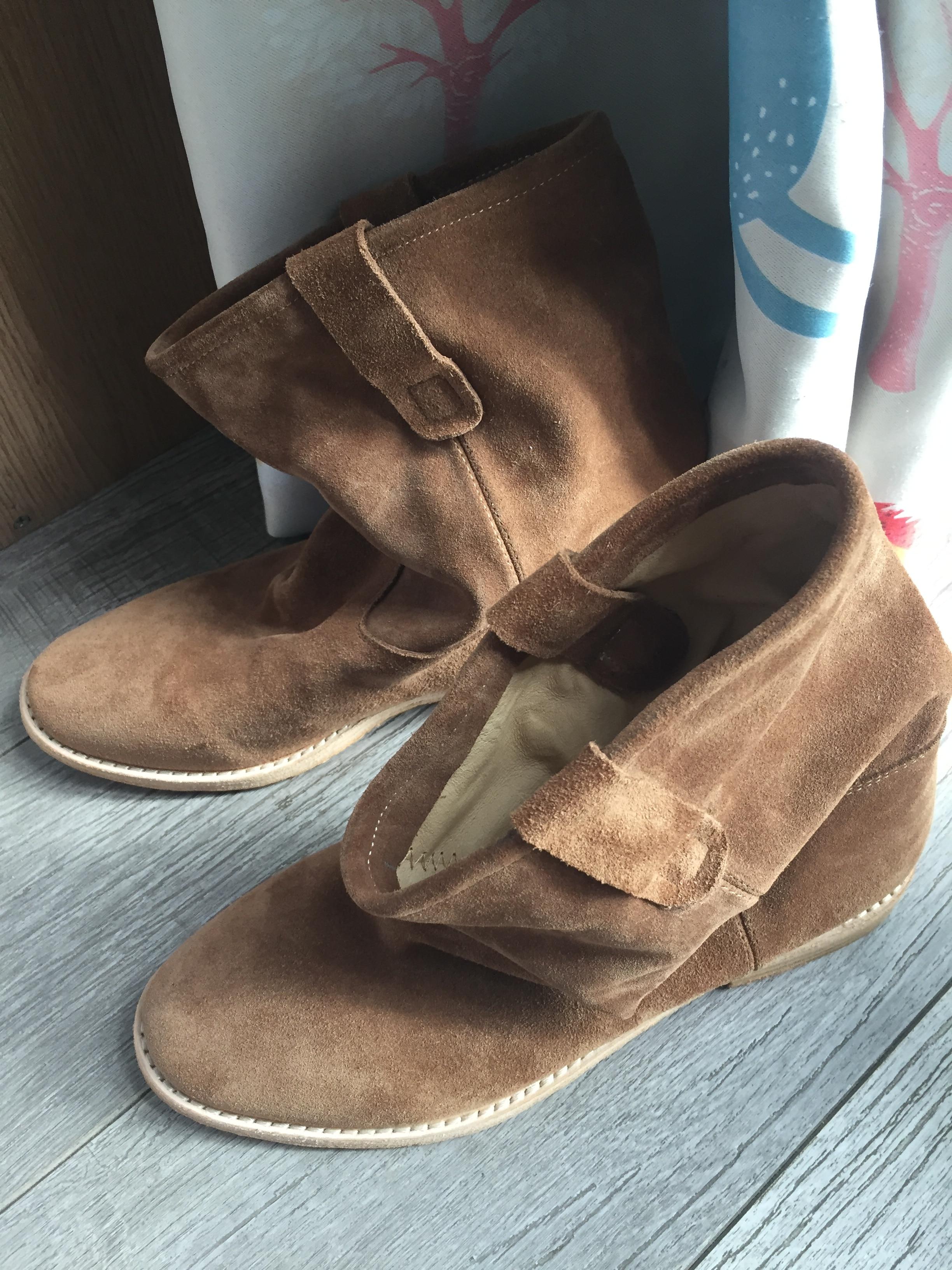 Ayakk.'ten Ayak Bileği Çizmeler'de Sıkıntı Düz/Yükseklik Artan Topuklu Rahat yarım çizmeler Retro Kovboy Çizmeleri Coy Deri Batı Çizmeler Yüksek Moda Kadın Ayakkabı'da  Grup 1