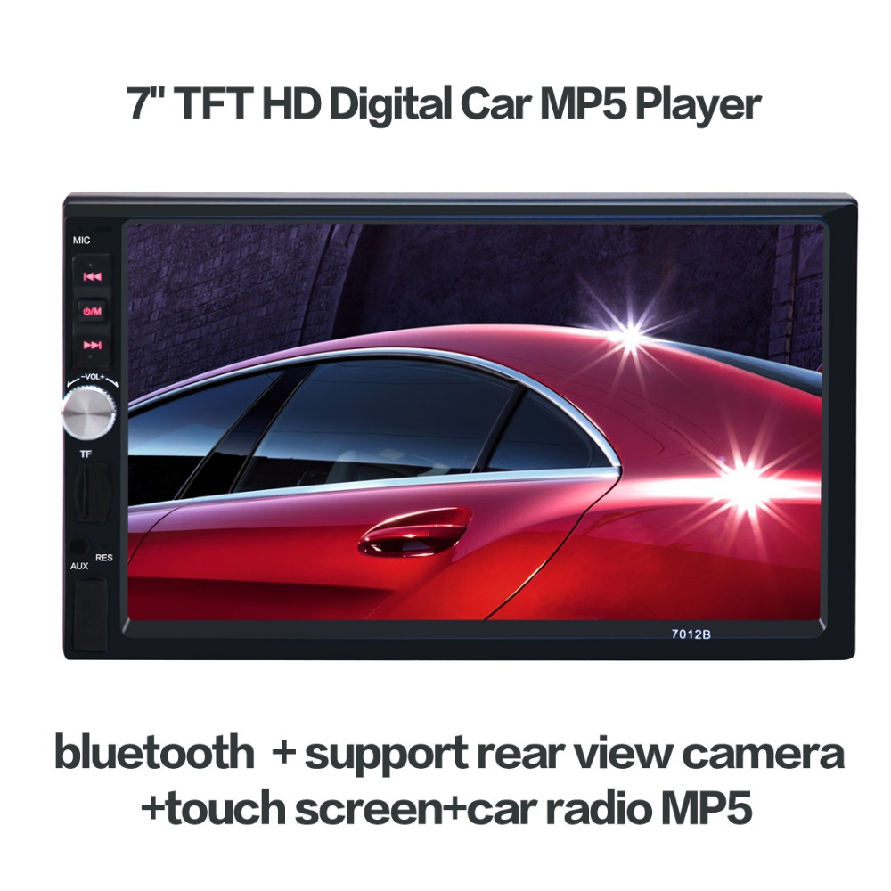 цена на Bluetooth V3.0 7'' TFT HD 2 DIN Car Audio Stereo Player 7012B Hands-free Call Touch Screen Car MP5 Player TF SD MMC USB FM Radio