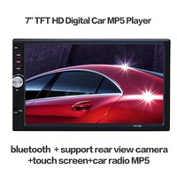 Bluetooth V3.0 7'' TFT HD 2 DIN Car Audio Stereo Player 7012B Hands free Call Touch Screen Car MP5 Player TF SD MMC USB FM Radio
