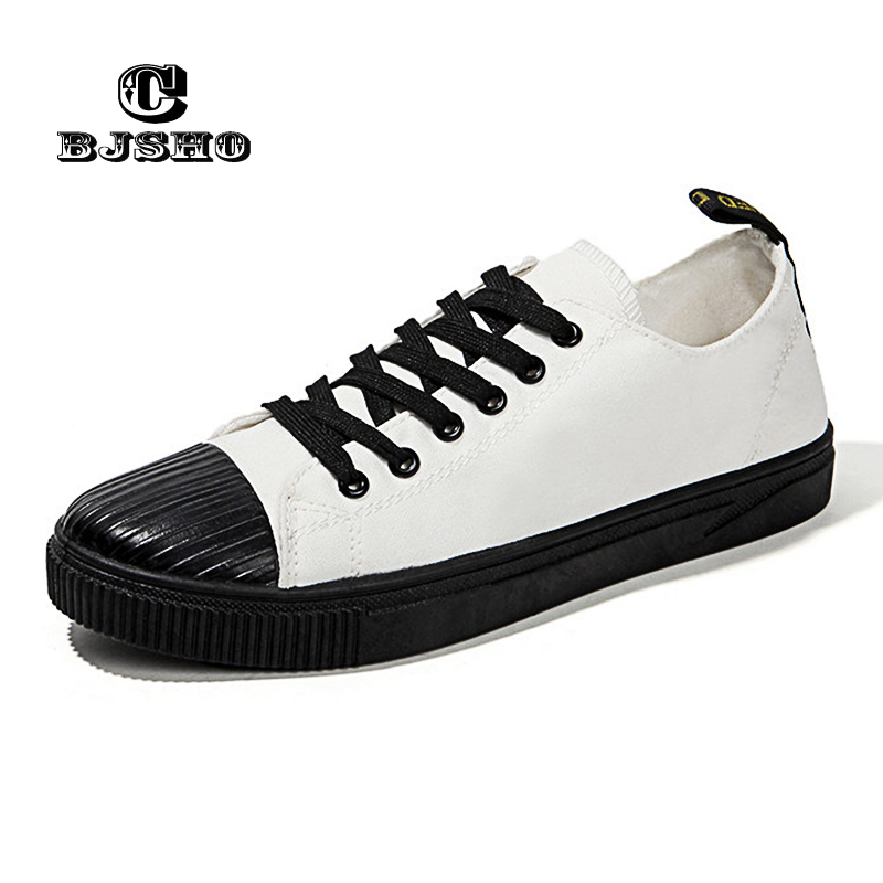 CBJSHO Autumn Vulcanized Canvas Shoes For Men Fashion Trend Lace-up Low Tops Casual Canvas Men Solid Shoes Male fashion men s canvas shoes with solid color and lace up design