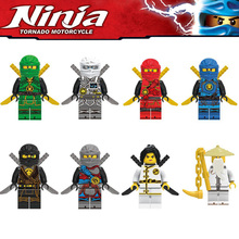 Building Blocks Compatible with LegoINGlys NinjagoIs Sets NINJA Heroes Kai Jay Cole Zane Nya Lloyd Weapons Action Toy Figure zk5
