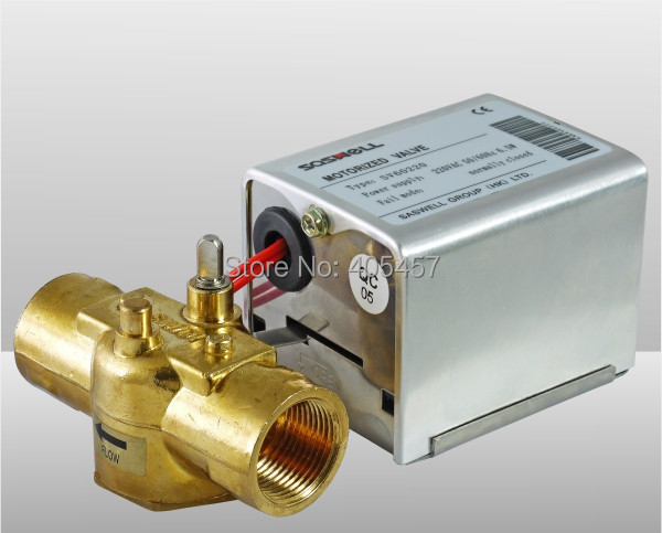 ФОТО 3 ways automatic air valve,fan coil electric ball value,central air conditioning electric  valve SV60