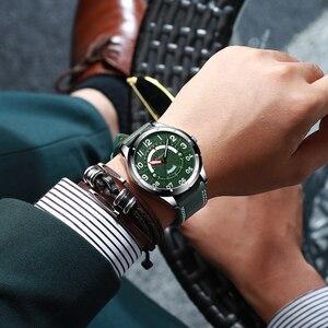 Image 5 - CURREN Reloj de pulsera para hombre, de cuero de moda, de lujo, con fecha y calendario, de cuarzo, informal