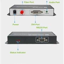 Tremendous High quality 20km DVI Optical Extender Video Transmitter 1080P DVI Fiber Optic Audio Converter Over FC/SC Fiber Optic Cable