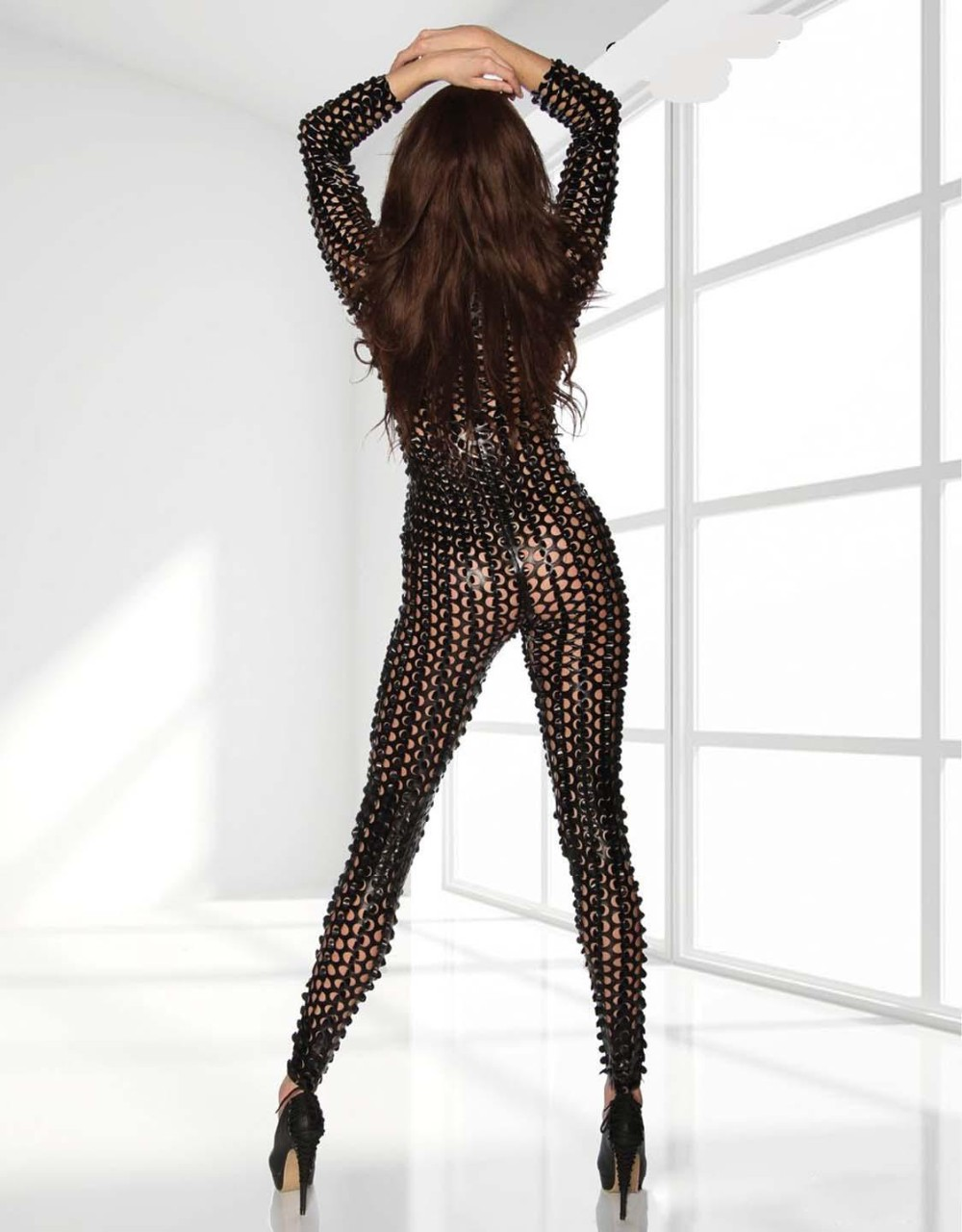 Black-Metallic-Clubwear-Catsuit-with-Cutouts-W7711C-2(1)