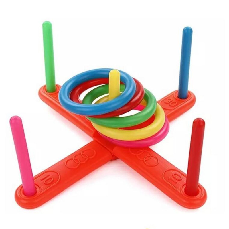 Children Outdoor Fun & Toy Sports Jumping Ring Joy Ferrule Throwing Game Parent-child Interaction Classic Indoor Outdoor Toy