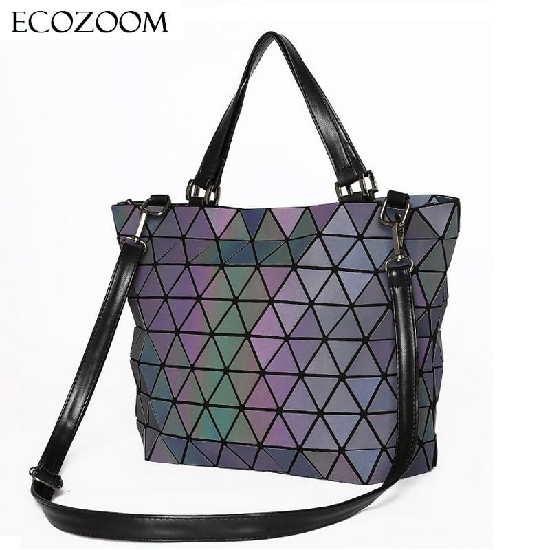 34c719ea072f Matte Women BaoBao Bag Geometry Sequins Mirror Saser Plain Folding Shoulder  Bags Luminous Handbag Casual Tote Bao Bao Bucket Bag - TakoFashion - Women s  ...