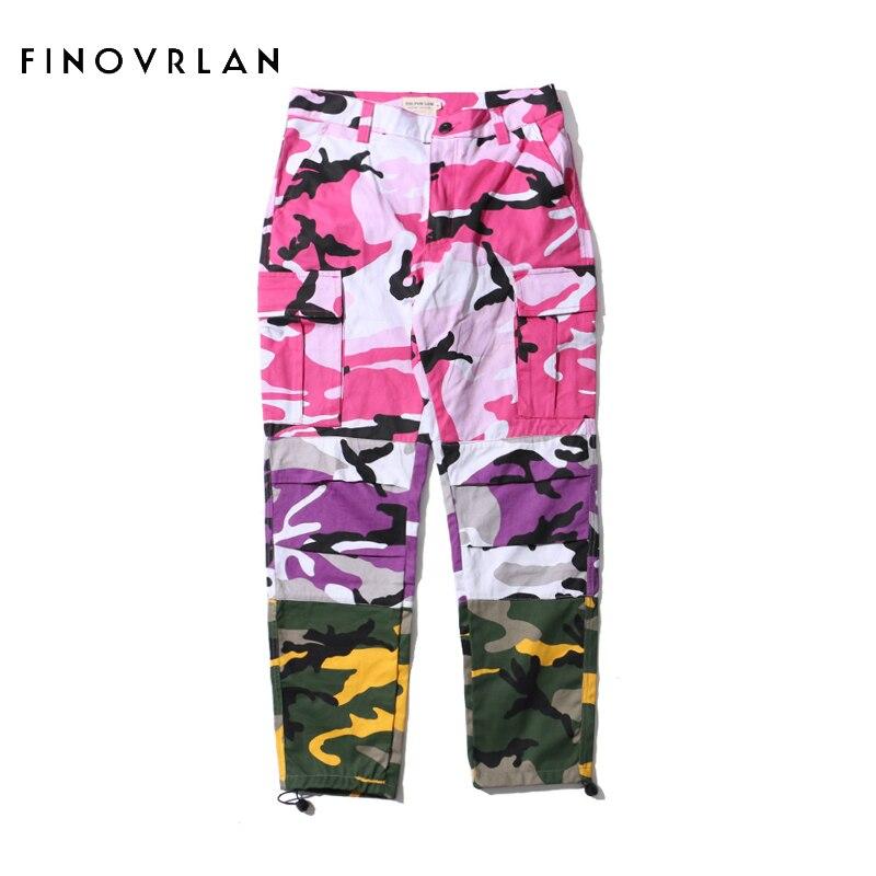 Три Цвет Camo Patchwork брюки-карго Штаны Для мужчин хип-хоп Повседневное камуфляжные брюки мода уличная джоггеры пот Штаны