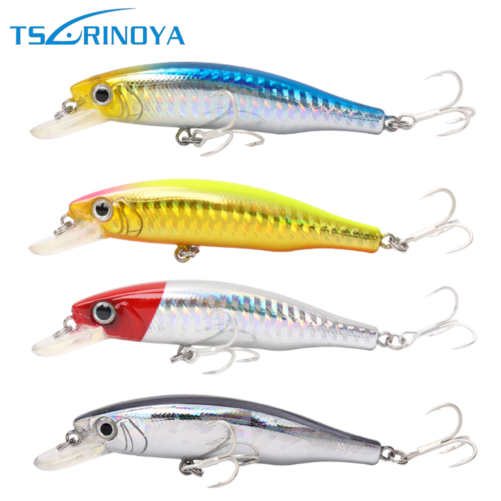 Tsurinoya DW19 85mm 14g Fishing Lure Minnow Wobbler Piken Air tawar Pancing Memancing umpan Memancing Tackle Running Depth 1.0 Meter