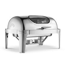 Плита квадратная нержавеющая сталь углубить Видимый столовая посуда Буффи печь