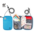 ecosusi Travel Passport Cover With Zipper ID Card Ticket Holder Cash Organizer Bag Durable Bank Card Holder Over Security