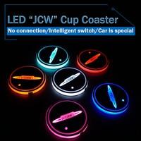 LED Auto STUOIA della TAZZA Sottobicchiere della Tazza JCW JOHN COOPER WORKS LUCE per Mini Cooper S COUNTRYMAN JCW R55 R56 R60 R61 F54 F55 F56 F57